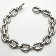 Chunky Sterling Silver Link Bracelet