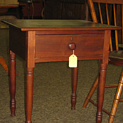 SALE Early 19th Century Walnut One Drawer Stand Table
