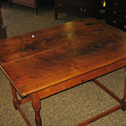 REDUCED 18th Century North Carolina Walnut Stretcher Base Tavern Table