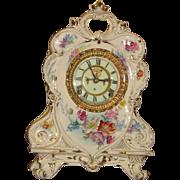 SOLD Ansonia Royal Bonn Porcelain Case China Clock