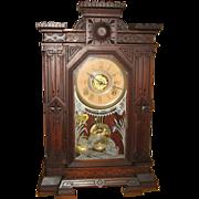 SOLD Gilbert Luna Walnut Victorian Parlor Clock