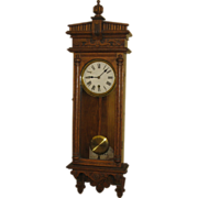 "Waterbury Clock Co. ""Halifax"" Hanging Wall Regulator Clock"