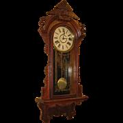 SOLD Gilbert Victorian Hanging Wall Clock Glenwood Circa 1910