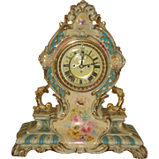 Ansonia Royal Bonn Porcelain Clock La Cerda