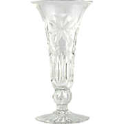 American Brilliant Cut Glass Vase Flowers Antique Victorian Crystal