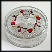 Westmoreland Glass Della Robbia Chocolate Box Vintage Candy Jar