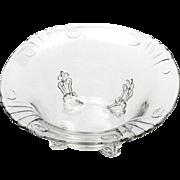 Fostoria Vintage Elegant Glass Bowl Crystal Number 2470 Footed Dish 1930s