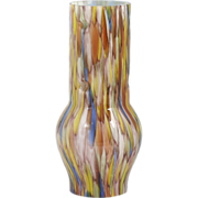 SALE PENDING Murano Art Glass Lamp Shade Lantern Chimney Multi colored with Aventurine