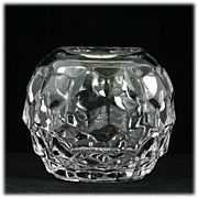Fostoria American Elegant Glass Rose Bowl Crystal Vase