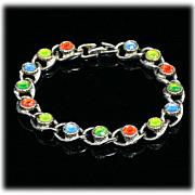 Sarah Coventry MoonLite Bracelet Vintage 1970 Rhinestones Glow
