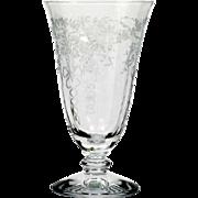 Fostoria Corsage Juice Glass Elegant Etched Glass Vintage Stemware 1940s