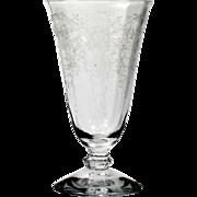 Fostoria Corsage Iced Tea Glass Elegant Etched Glass Vintage Stemware 1940s