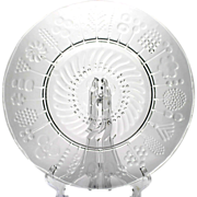 """Iittala Flora 15"""" Crystal Platter Art Glass Finland Oiva Toikka."""