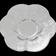 Duncan & Miller Indian Tree Plates Salad Vintage Etched Elegant Glass