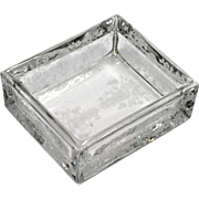Duncan & Miller First Love Cigarette Box Base Only Elegant Etched Glass 1930s