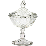 Fostoria Colony Covered Compote Vintage Elegant Glass Crystal Bowl