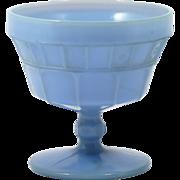 Jeannette Doric Delphite Blue Depression Glass Sherbet Cup Vintage 1930s