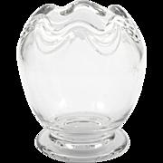 Fostoria Coronet Crystal Rose Bowl Vintage Elegant Glass Drape Pattern