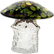 Aseda Art Glass Mushroom Scandinavian by Bo Borgstrom 1960s Mid Century Modern