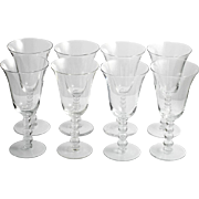 Imperial Candlewick Crystal Water Goblets Vintage Elegant Glass Set of 8