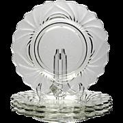 Cambridge Caprice Elegant Glass Luncheon Plates Set of 4 vintage 1930s Crystal
