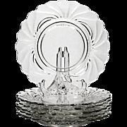 Cambridge Caprice Elegant Glass Luncheon Plates Set of 6 vintage 1930s Crystal
