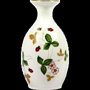 SALE PENDING Wedgwood Wild Strawberry Bone China Vase English Pottery