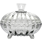 Heisey Crystolite Candy Dish with Lid Vintage Elegant Glass 1930s