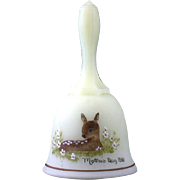 Fenton Gentle Fawn Custard Glass Bell Mothers Day 1981 Vintage Art Glass