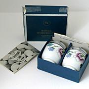 SALE Royal Worcester Egg Coddler Pair Asley In Original Box