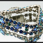Dazzling Heliotrope AB Rhinestone Bracelet Vintage