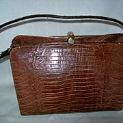 Vintage Genuine Lizard , Snakeskin  Kelly Bag