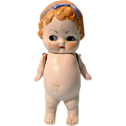 """SOLD All Bisque 6"""" Side Glancing German Doll"""