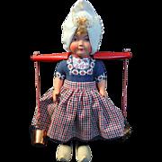 SALE Beautiful Vintage Dovina Dutch Doll