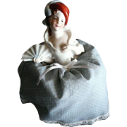 SALE Porcelain Pin Cushion Half Doll