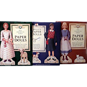 Three American Girls Paper Dolls, 1990's Uncut
