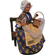 Vintage French Lace Maker Santon