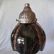 Handcrafted Bent Glass Lamp---Great Gift