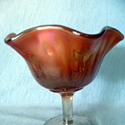 Fenton Rib and Holly Sprig Comport