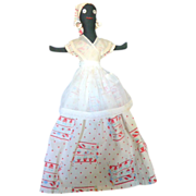 Vintage Folk Art Black Doll Toaster Cover