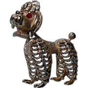 Articulated Poodle Brooch