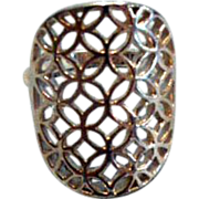 Lovely Filigree Sterling Silver Ring