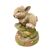 Tim Wolfe Hop Tuit Rabbit and Frog Figure