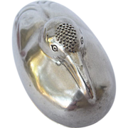SOLD Antique Japanese Figural Bird Box - Sterling Silver