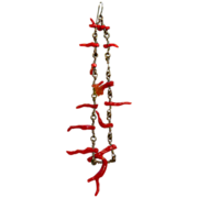 Vintage Shoulder Duster Branch Coral Earrings - Chandelier