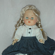 Vintage Vogue Ginny Doll Pigtails and Denim Skirt