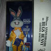 Bugs Bunny 50th Birthday Limited Edition 24K Doll Toy with Shipper
