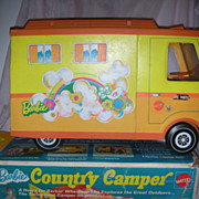 SALE Vintage Mod Era Barbie Doll Country Camper in Box