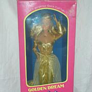 Vintage Superstar Barbie Doll Golden Dream NRFB