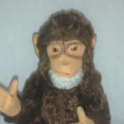Vintage Steiff Monkey or Chimp Toy Germany Stuffed Bear